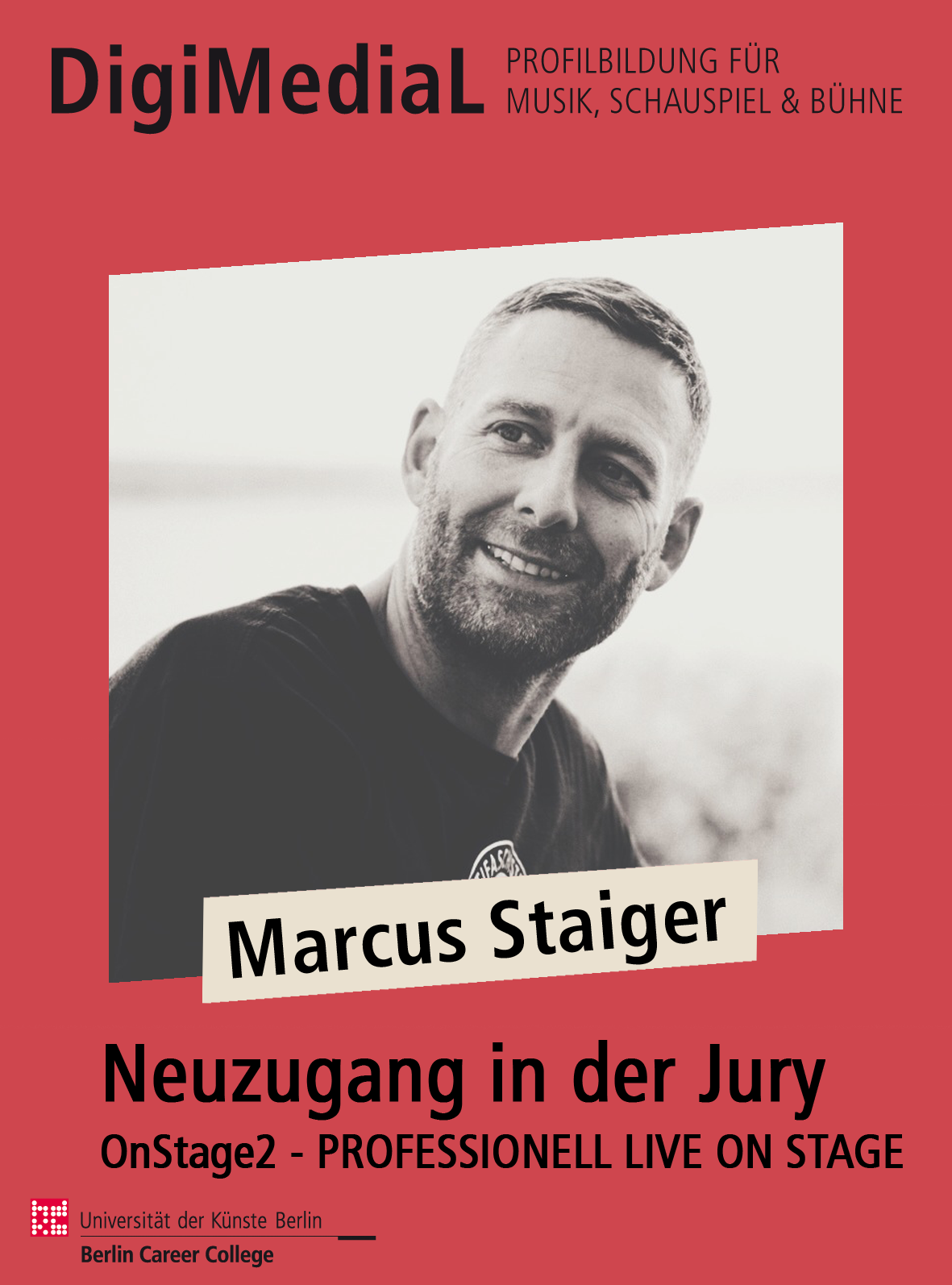 Neues Jurymitglied Bei OnStage2: Marcus Staiger