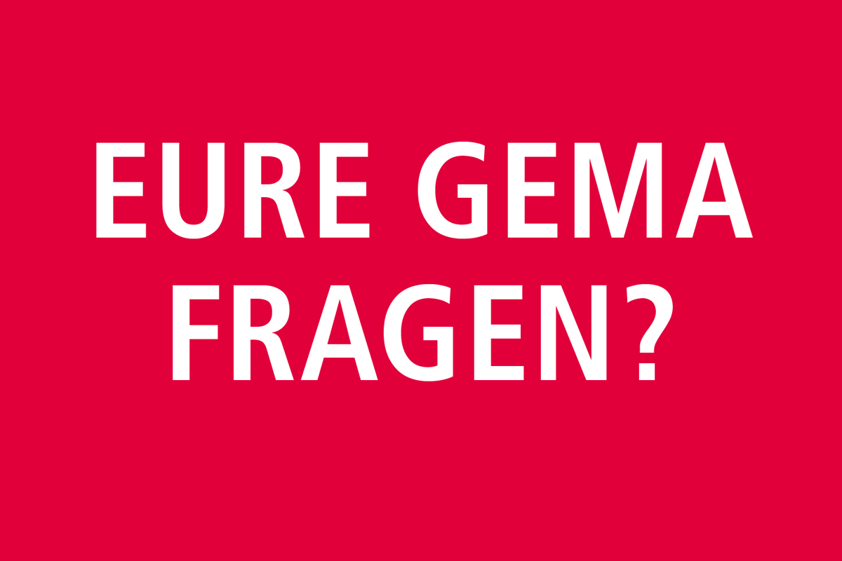 Berliner Musiker Treff Am 15.5.2018: How To Deal With GEMA?